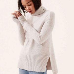 Lou & Grey Wool Blend Cowl Turtleneck Sweater Cozy